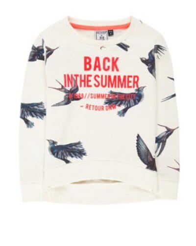 Retour Jeans Inca sweater met flockprint De Bijenkorf