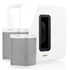 Sonos 2x Play:1 + SUB draadloos muzieksysteem wit
