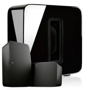 Sonos 2x Play:5 + SUB draadloos muzieksysteem zwart