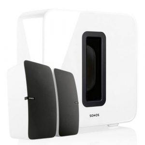 Sonos 2x Play:5 + SUB draadloos muzieksysteem wit