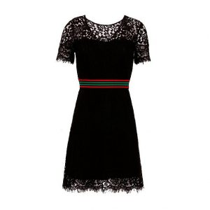 Morgan jurk zwart met band