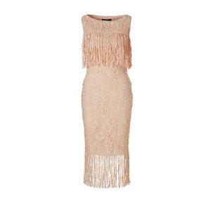 ST. studio Lace Fringe jurk
