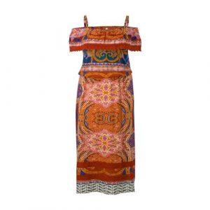 Miss Etam Plus off shoulder maxi dress
