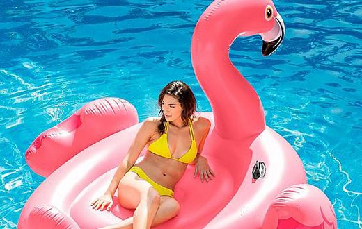 Opblaasbare-flamingo