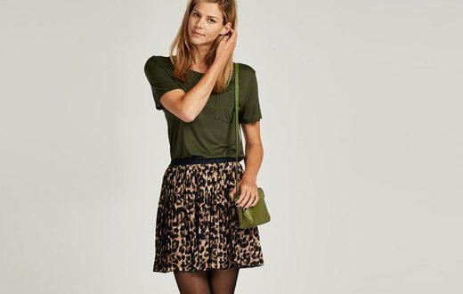 een plisse rok combineren