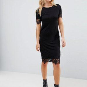 Brave Soul Elina Dress With Lace Trim