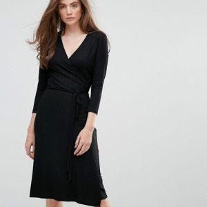 Getsuz Falipa V Neck Midi Dress