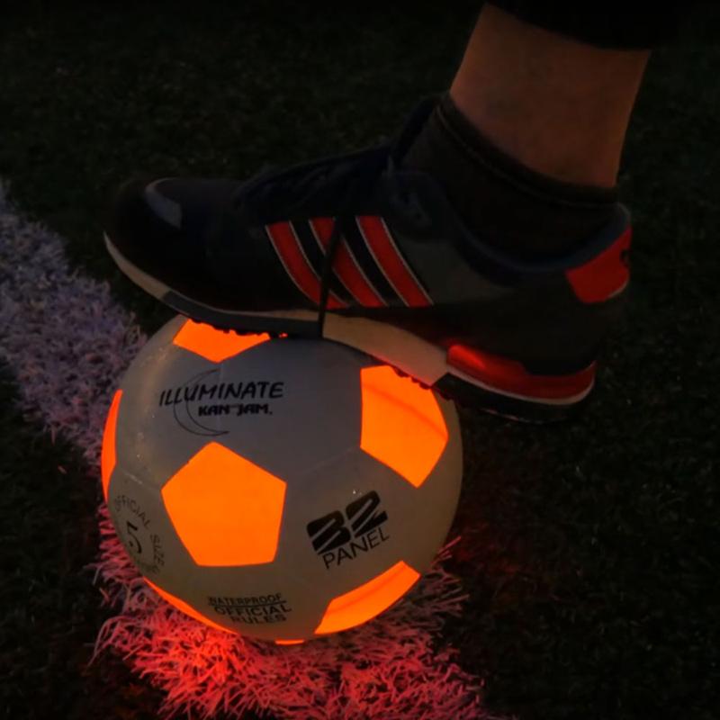 voetbal met licht