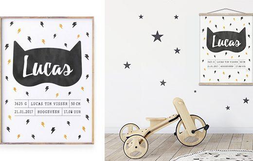 leuke poster voor de kinderkamer