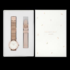 Ontdek de Rosefield Gift Boxes: jouw favoriete Rosefield horloge met een bijpassend bandje of armbandje verpakt in een zelf ontworpen cadeauverpakking. Bespaar tot 15% met de Rosefield Giftboxes.