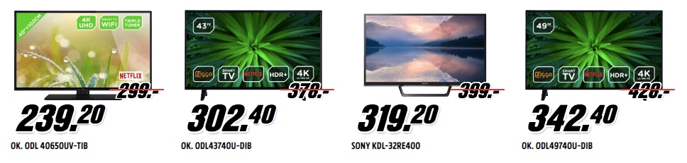 HDR televisies mediamarkt