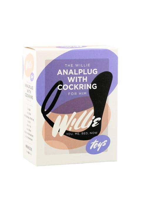 willie anaal plug met cockring