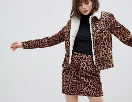 combi set animal print asos