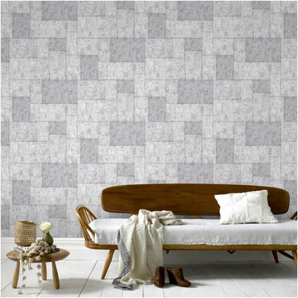 praxis behang tiles light grey