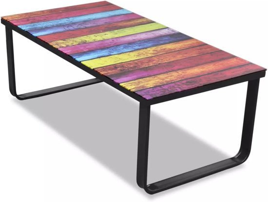 vidaxl regenboog tafel