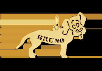 naamketting hanger hond