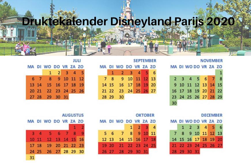 Druktekalender Disneyland 2020