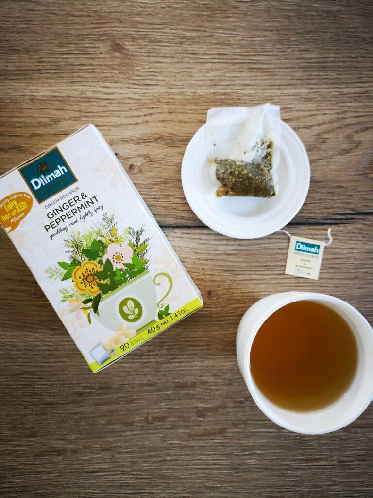 groene rooibos met gember en pepermunt thee