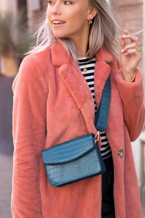faux fur roze jas