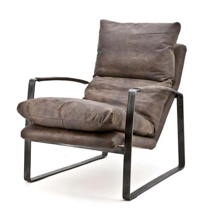fauteuil lex donkerbruin