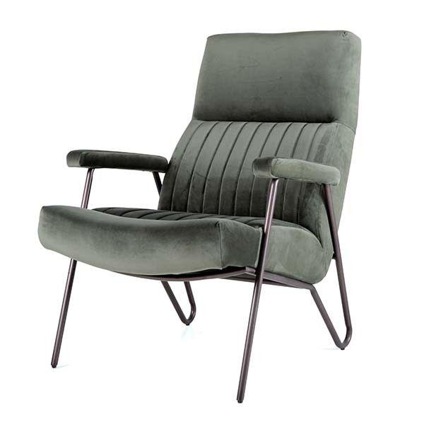 fauteuil william velvet groen