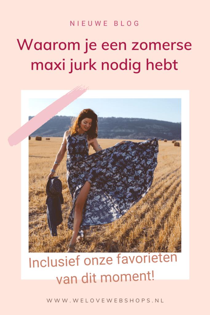 maxi jurken zomers pin