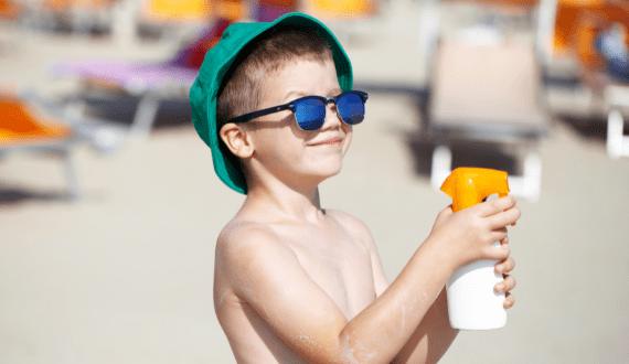 zonnebrand voor kinderen