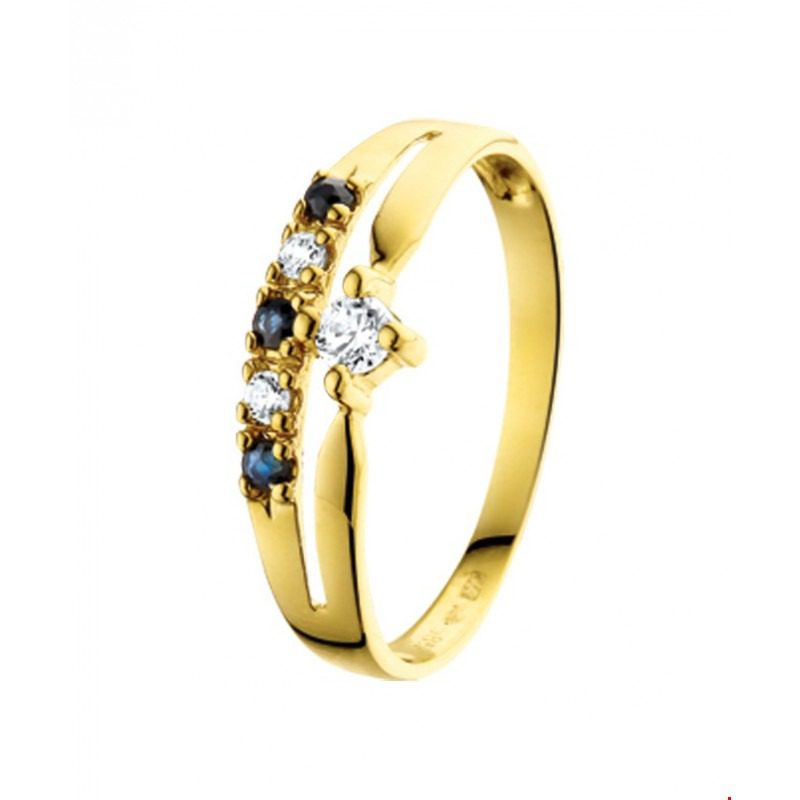 gouden ring saffier
