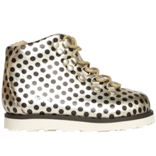 Bold-Jasper-boots-in-GOLD-with-BLACK-POLKA-DOTS